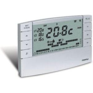 Cronotermostato Digitale Settimanale 3V Bianco - PER 1CRCR022B