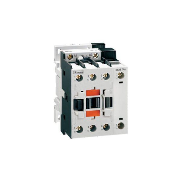 Contattore a quattro poli 26 ampere alimentazione 230v ac 50/60 Hz - LOV BF26T2A230