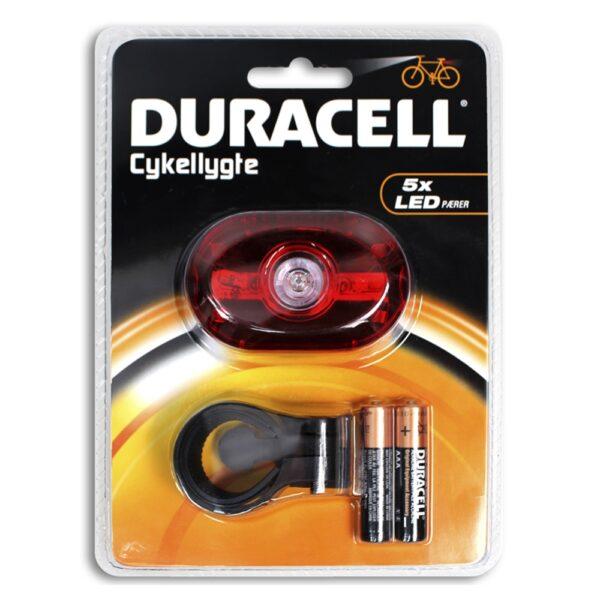 Luce Posteriore 5 LED Rossa - DURACELL BIK-B03RDU