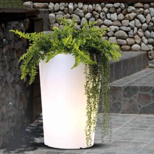 Lampada Vaso Da Terra Giardino E27 Max 20w IP65 Bianco - PAI EST525
