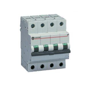 Interruttore Magnetotermico 4P 10A Curva D 6kA General Electric 56652 - COD. HERD566652