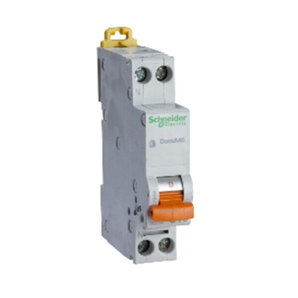 Interruttore Magnetotermico DomA45 1P+N C 10A 4500A - COD. HERD667353