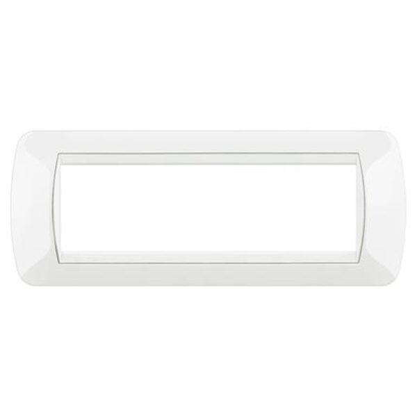 Placca 7 Posti Living International Bianco - BTICINO LEGRAND L4807BI