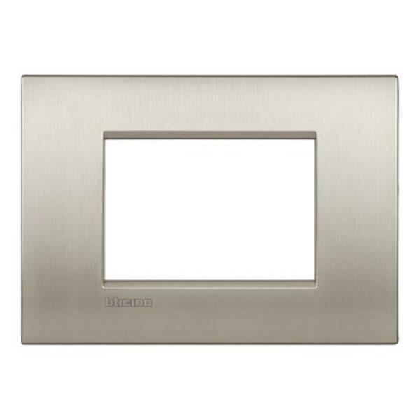 Placca 3 Posti Living Light Titanio Spazzolato - BTICINO LEGRAND LNC4803TIS