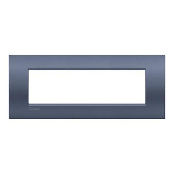 Placca 7 Posti Living Light Blue Moon - BTICINO LEGRAND LNC4807BM