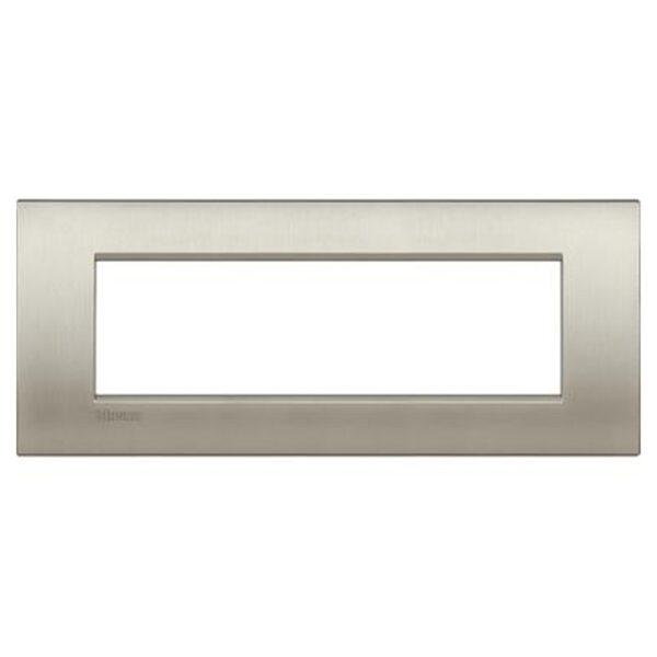Placca 7 Posti Living Light Titanio Spazzolato - BTICINO LEGRAND LNC4807TIS