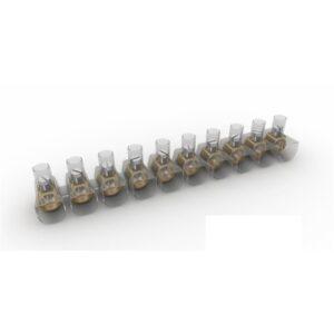 Stecca Morsetti con serraggio a vite 10 poli 4 MM2 - ETELEC ITALIA TBOX040