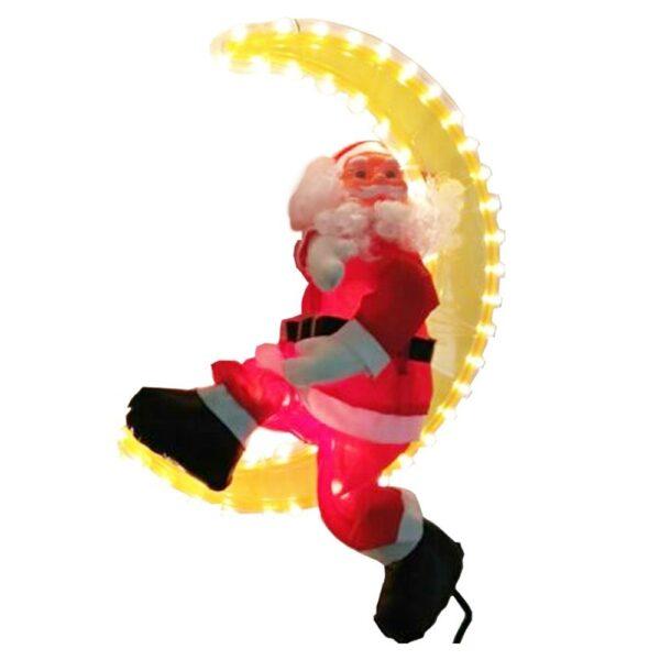 Babbo Natale su Luna Luminosa 40 cm - WIM 4504211