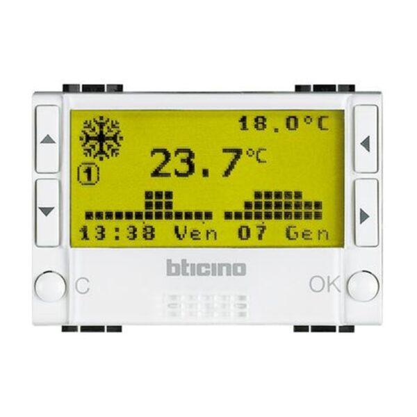Cronotermostato da Incasso Giornaliero/Settimanale per riscaldamento e condizionamento. - BTICINO LEGRAND N4451