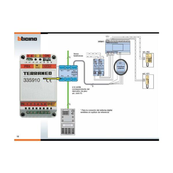 modulo interfaccia citofonica per collegamento PABX 335910 - BTICINO LEGRAND 335910