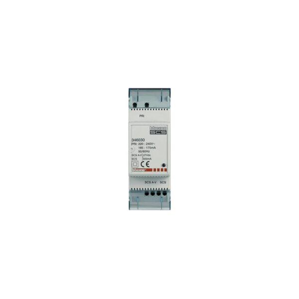 Minialimentatore con adattatore video integrato per la realizzazione di piccoli impianti video 2 FILI - BTICINO LEGRAND 346030
