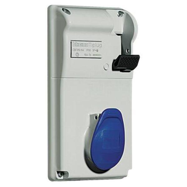 Presa interbloccata compatta da quadro colore blu 16A A 230V - BTICINO LEGRAND CBS316/42