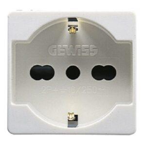 Gewiss GW20246 - Presa standard bivalente italiano tedesco serie per sistema, bianco - GEW GW20246