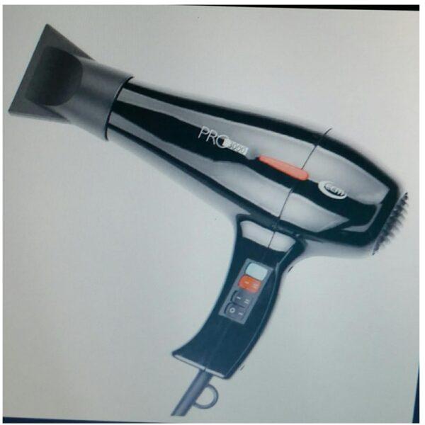 Asciugacapelli professionale prodotto in Italia.Il phon professionale PRO 3000 emettendo getti di aria calda regolabile a due velocità e fino a 4 calorie, consente l'asciugatura dei capelli eliminando - COD. PRO 3000