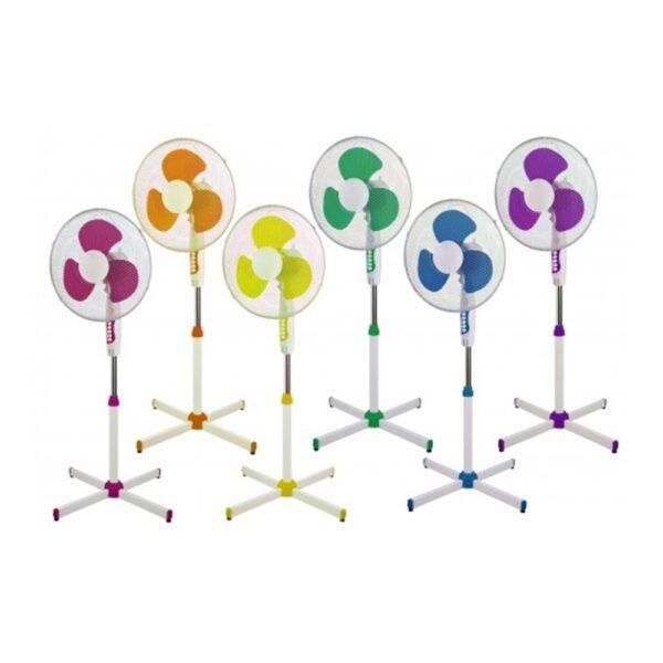 Ventilatore a piantana in diversi colori, composto da TRE pale per un diametro totale di 40 cm - COD. VP40/145TMC