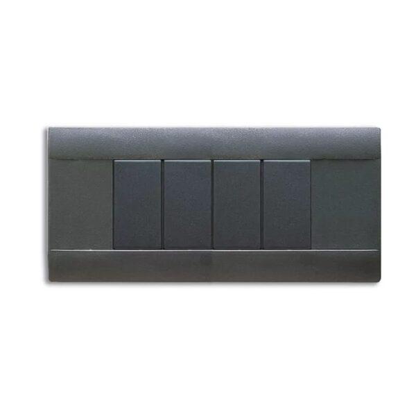 Placca Rettangolare Sabbiata 6 Moduli Grigio Noir - AVE SPA 45P06GN